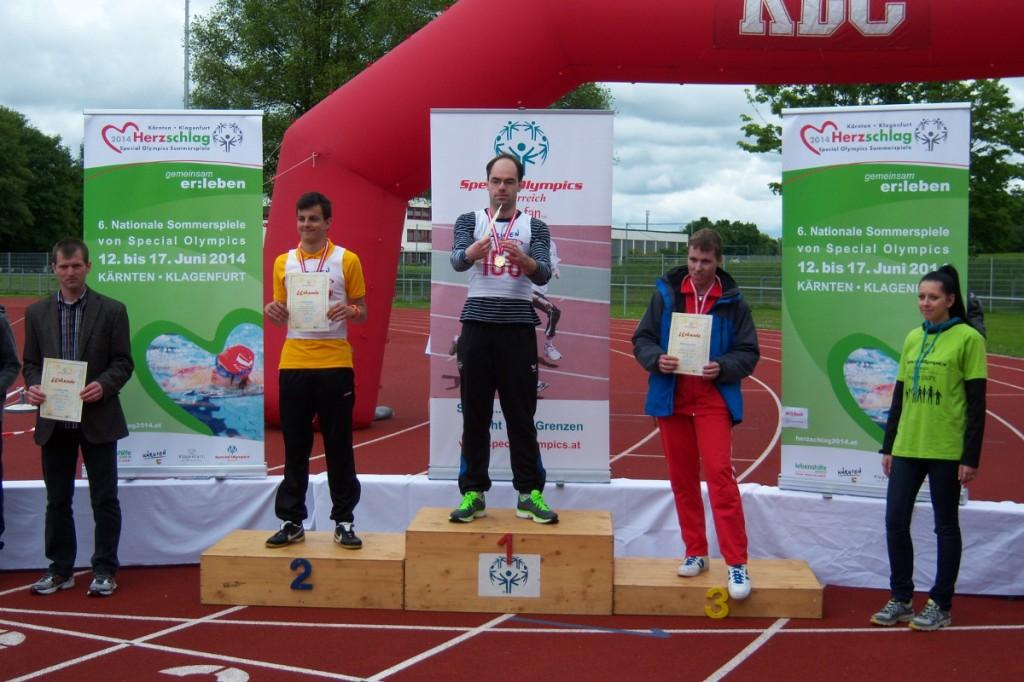 Bild Special Olympics in Klagenfurt 2013 Siegerehrung